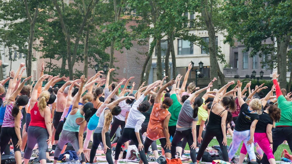 Yoga in Bryant Park