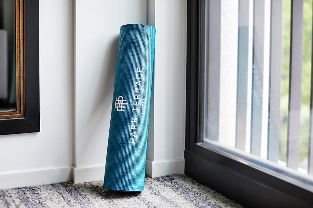 Yoga mat hotel fitness