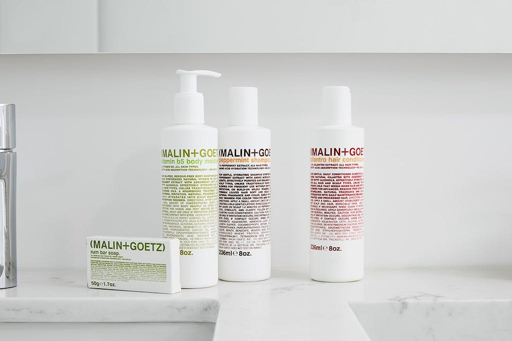 Malin + Goetz Toiletries Park hotel amenities