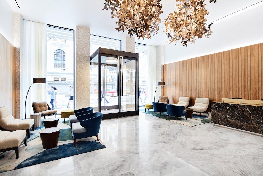 Hotel lobby New York City
