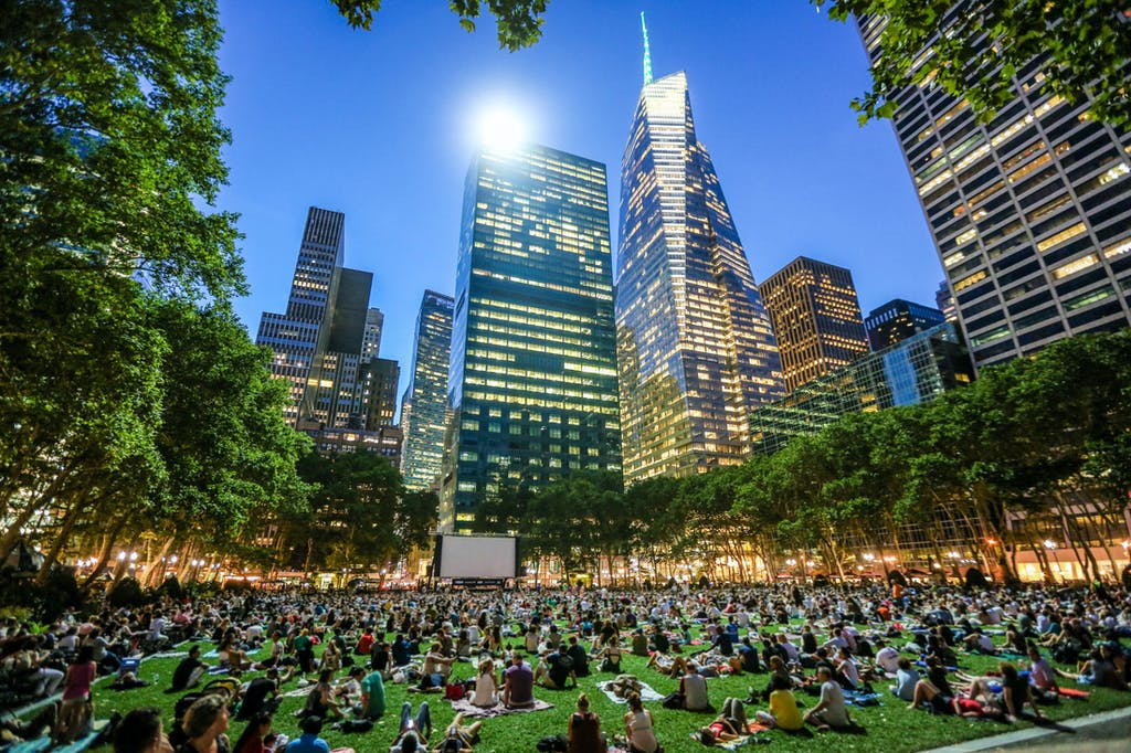 Bryant Park at New York, USA