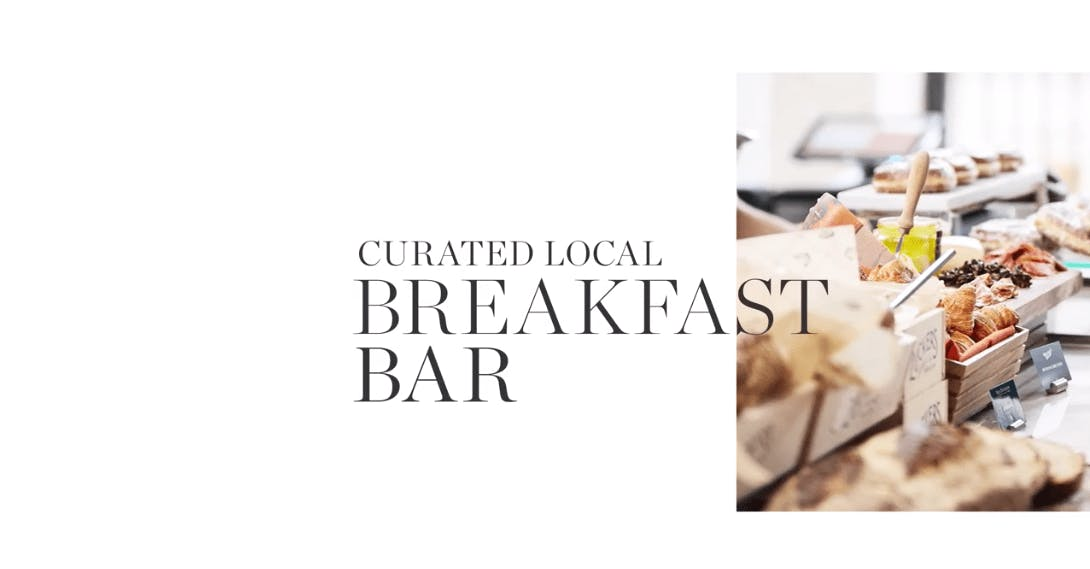 Curated local breakfast bar